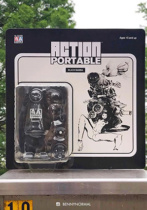 Action Portable Black Bamba by Ashley Wood, 3A Toys