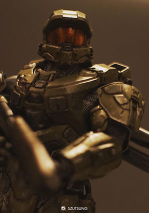 Halo Master Chief Bambaland Exclusive Weapon Version by Ashley Wood, 3A Toys