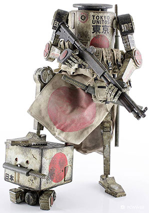 JDF Dropcloth plus Square MK1 by Ashley Wood, 3A Toys