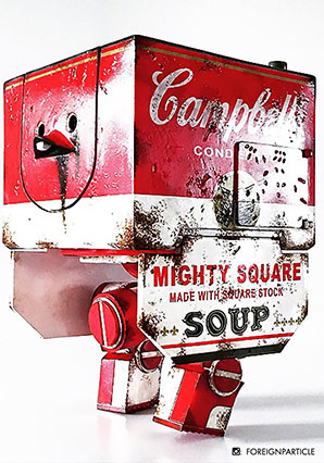 Mighty Square Campbell Soup - WWR - Ashley Wood
