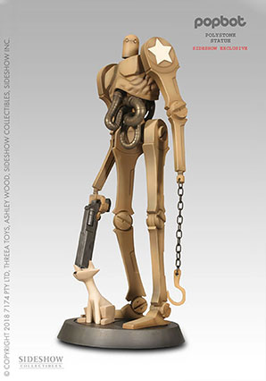 Popbot Polystone Statue from Sideshow - POP - Ashley Wood